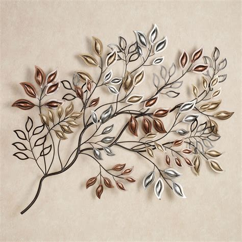 metal wall decor and sculptures golden leaves metal wall sculpture