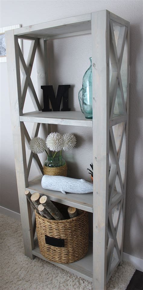 Living Superstar Wood 200 150 10t white rustic x bookshelf diy projects