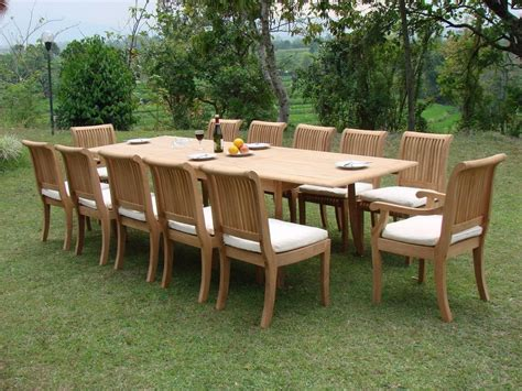 Bench Dining Room Table Set by Outdoor Furniture