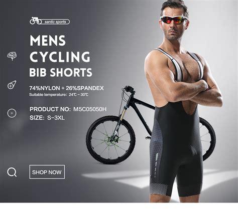 mens cycling santic cycling bib shorts men cycling jersey mtb ropa