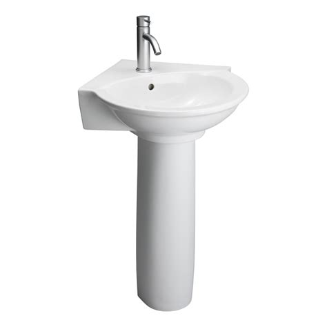 corner pedestal sinks for bathrooms evolution white corner pedestal sink barclay products