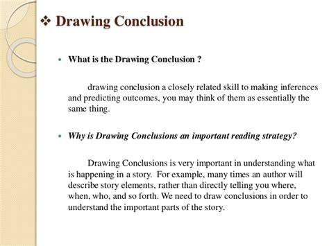 Why Is Drawing Conclusions Important drawing conclusion predicting outcomes