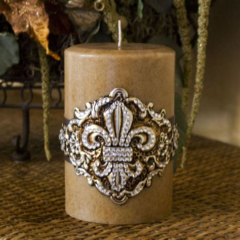 swarovski home decor swarovski candle fleur de lis home decor pillar swarovski