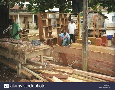 outdoor furniture factory and wood store with carpenters