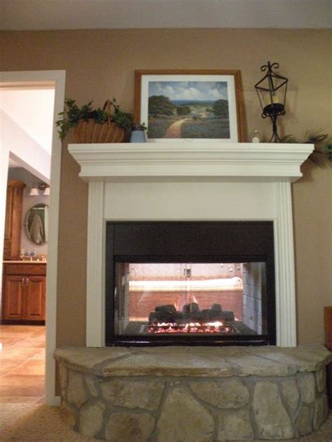 25 best ideas about sided gas fireplace on