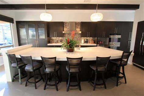 contemporary kitchen islands with seating 89 contemporary kitchen design ideas gallery