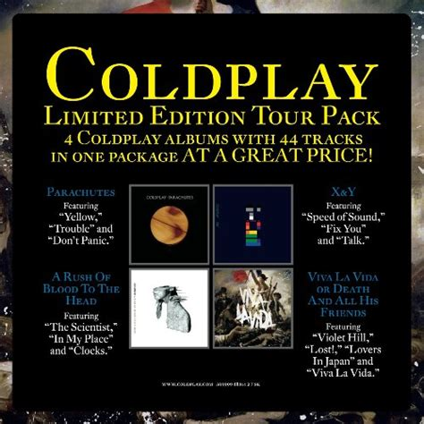 coldplay xyz limited edition tour pack by coldplay album cover