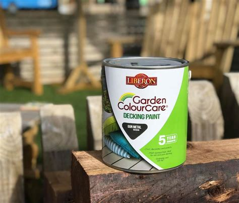 liberon light brown garden colourcare decking paint