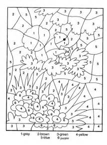 color by number for adults color by number coloring pages for 5 color by