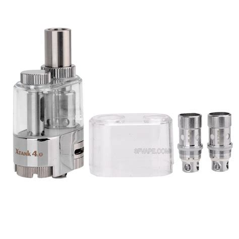 x tank authentic vapmod x tank 4 0 silver transparent sub ohm