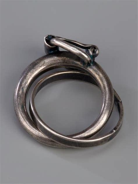 goti interlocking rings in silver for lyst