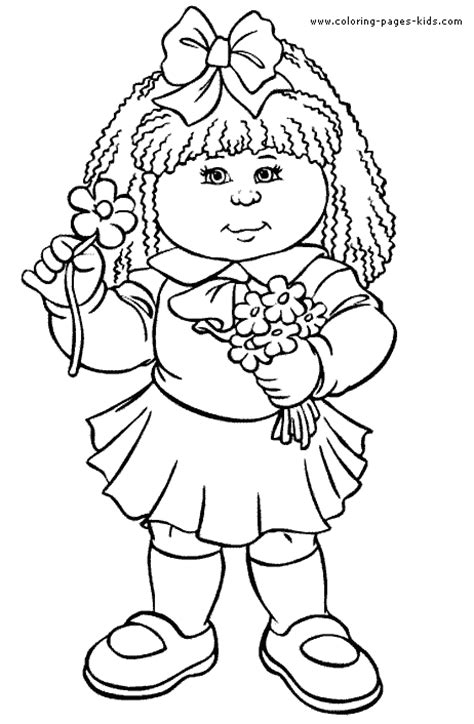 Cabbage Patch Kids Color Page Cartoon Color Pages Cabbage Patch Coloring Pages