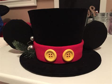 mickey mouse santa hat with lights diy mickey mouse top hat topper for mickey christmas tree