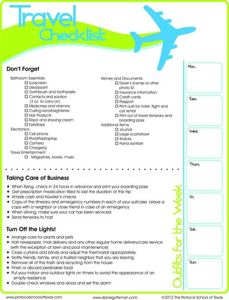 printable travel checklist travel checklist printable