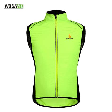 windproof cycling vest wosawe tour de france windproof cycling jerseys sleevless