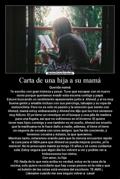 carta de una madre a una hija quinceaera carta de una hija a su mam 225 desmotivaciones