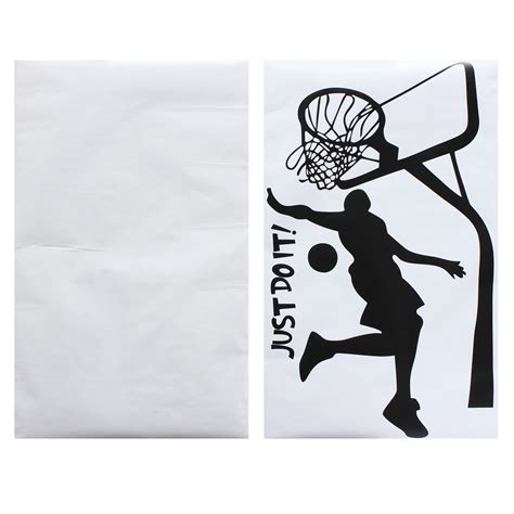 sports home decor just do it basketball wall decal diy removable sports home