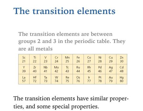 Where Are The Transition Metals Located On The Periodic Table by Pin By Mr Sugden On Aqa C3