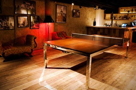 Table Tennis Boardroom Table 70 Awesome Caves In Finished Basements And Elsewhere Page 11 Of 14