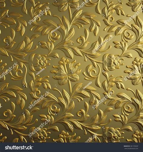 wallpaper gold embossed gold floral background golden foil embossed stock