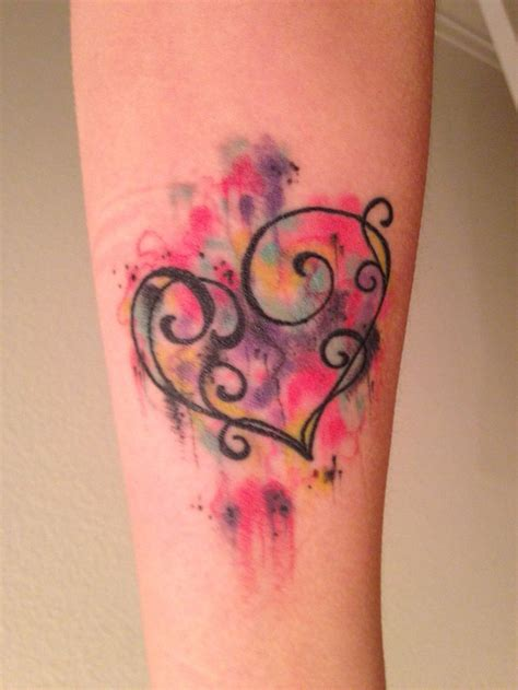 watercolor tattoos heart 1000 ideas about watercolor tattoos on