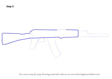 how to draw a rod step by step cars draw cars learn how to draw ak 47 rifle rifles step by step