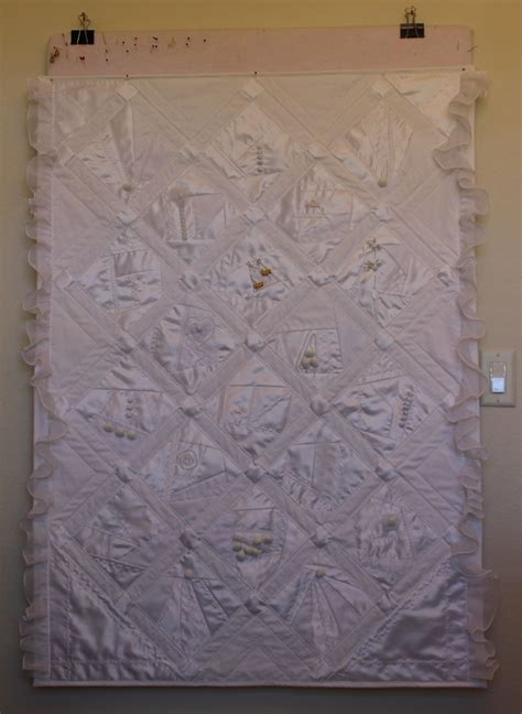 Wedding Dress Quilt Pattern by Quilt Made From Wedding Dress