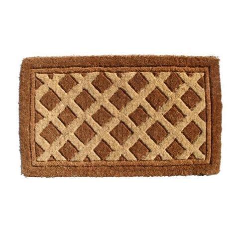 Fiber Doormat by Outdoor Coconut Fiber Diamonds Door Mat 2 6 X 1 6 Free
