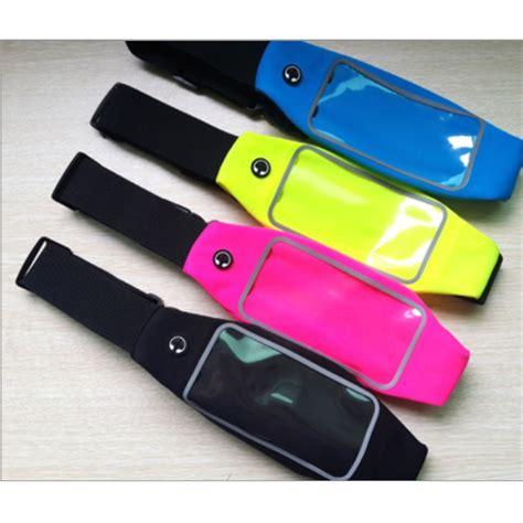Tas Pinggang Vape Blue ikat pinggang olahraga waterproof dengan slot smartphone 5