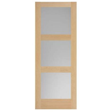 solid wood interior doors home depot masonite 36 in x 84 in maple veneer 3 lite equal solid