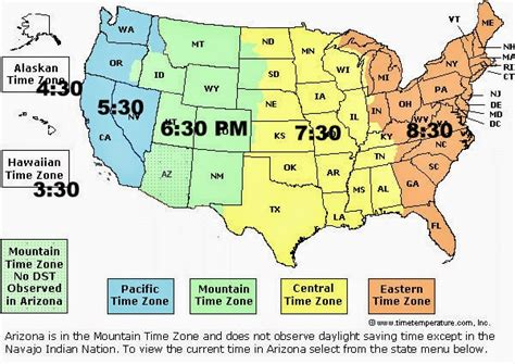 geography us maps time zones