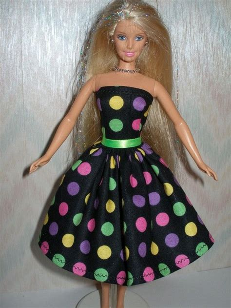Handmade Doll Dresses - handmade doll clothes dotted dress