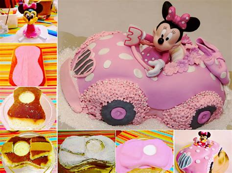 How To Decorate Cake At Home by Minnie Car Cake For Magnificent Birthday Parties
