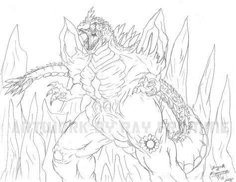 space godzilla coloring pages space godzilla by almightyrayzilla on deviantart