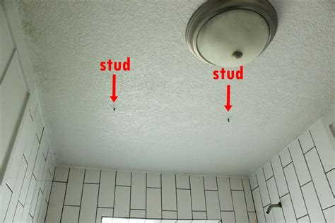How To Install A Ceiling Mounted Shower Curtain How To Find A Stud In The Ceiling