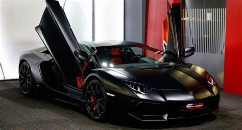 This Satin Black Lamborghini Aventador Is Looking For A