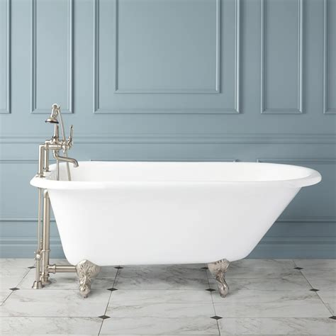 bathtub plumbing celine cast iron clawfoot tub bathroom