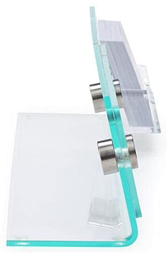 Desk Nameplate With Business Card Holder by Desk Nameplate With Business Card Holder Clear Acrylic