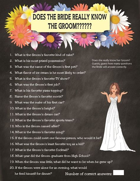 bridal shower knows groom printable wedding shower quot how well does the the groom quot the groom the o jays