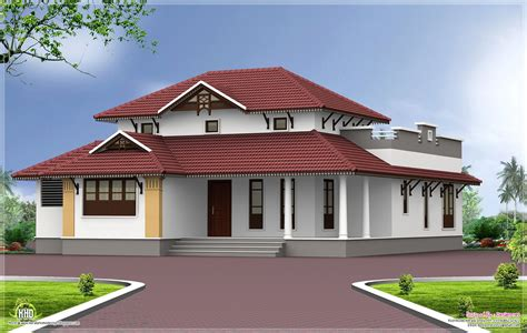 single storey home exterior in 1650 sq home kerala