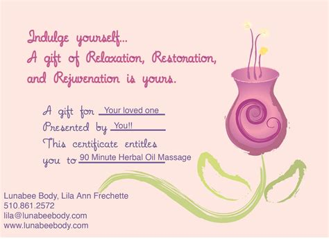 Massage Gift Card Nyc - massage gift certificatesalexaprintablecertificates com alexaprintablecertificates com