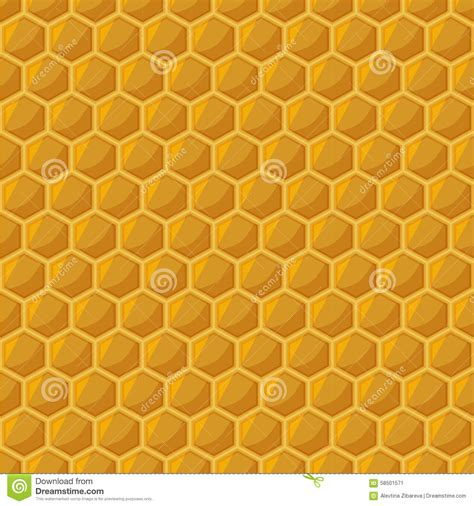 yellow hexagon pattern honeycomb seamless pattern stock vector image 58501571