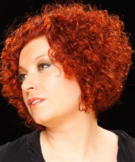 curly haircuts nj short curly casual hairstyle medium red