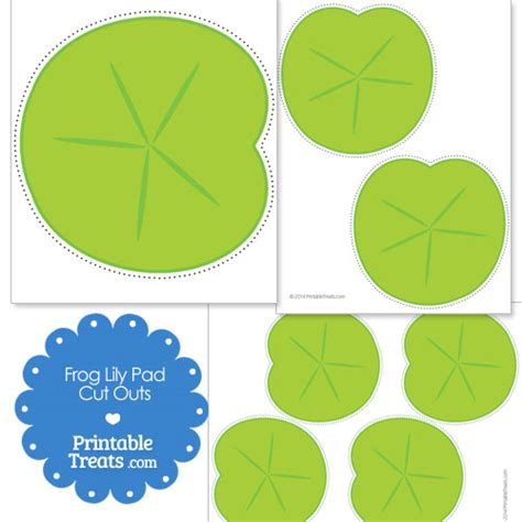 printable frog lily pad cut outs printable treats com