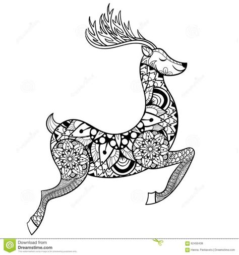 balance anti stress coloring zentangle balance and stress relief coloring book for adults zentangle vector reindeer for anti stress coloring