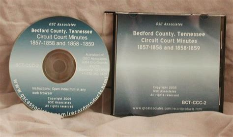 Tennessee Circuit Court Records Bedford County Tennessee Circuit Court Minutes Aug 1857 Aug 1859