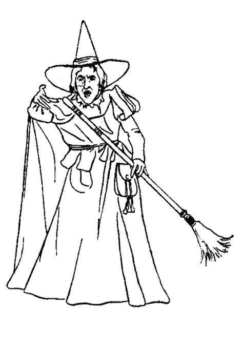 Witch Of The West Coloring Pages wizard of oz coloring pages witch of the west coloringstar