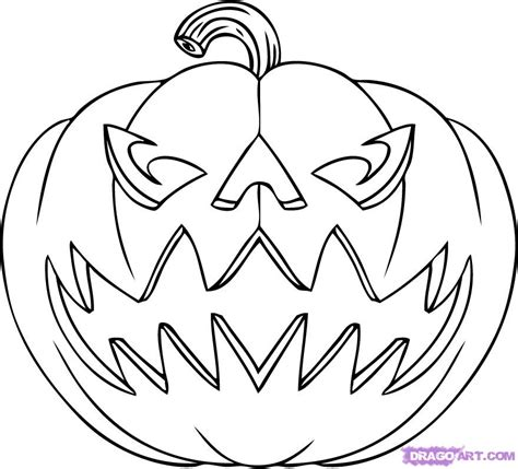 happy jack o lantern faces az coloring pages
