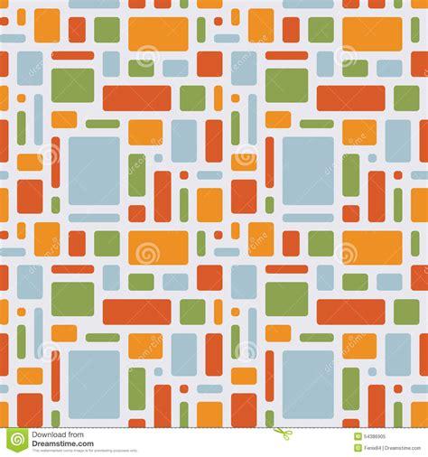 object pattern background fun summer pattern of geometric objects stock vector