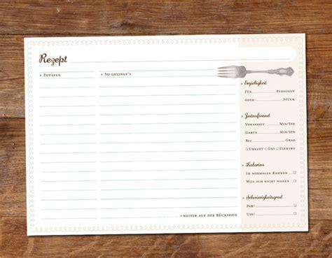 rezeptkarten vorlagen weiteres 45 rezeptkarten im umschlag ein designerst 252 ck